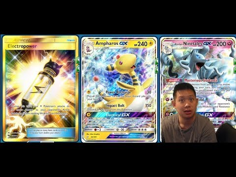300 DMG AMPHAROS GX Deck From Team Up, Electropower 1HKO Combo