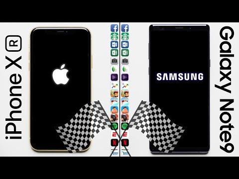 IPhone XR Vs. Galaxy Note 9 Speed Test