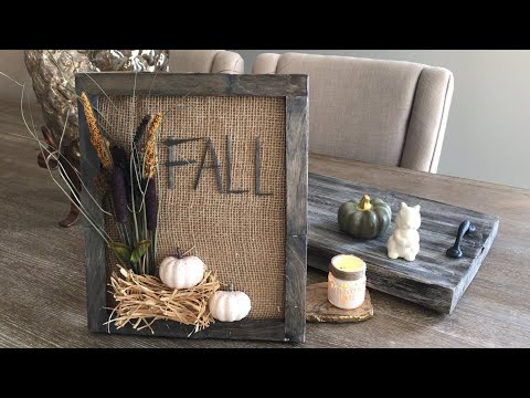 Farmhouse Dollar Tree DIY| How to create a wood frame
