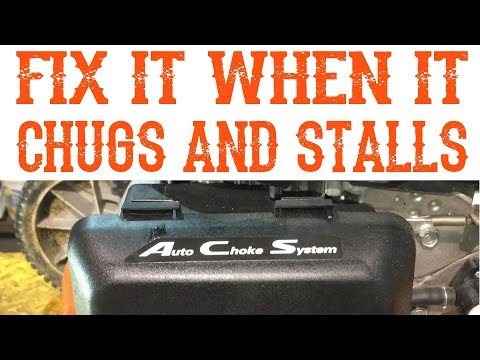 How To Fix A Honda Lawn Mower If It Chugs And Stalls - Video