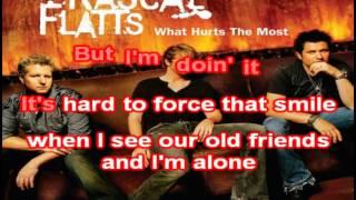 Rascal Flatts - What Hurts The Most - karaoke