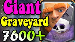 Giant GraveYard GOD 🏆 7600 gameplays 👈 Best Giant deck in clash Royale