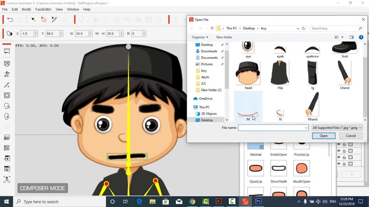 How to Create Character Indonesia Boy In Cartoon Animator 4 - YouTube