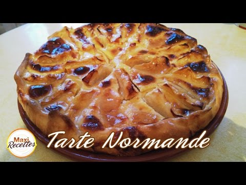 recette tarte normande aux pommes youtube. Black Bedroom Furniture Sets. Home Design Ideas