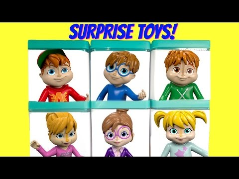 Alvin and the Chipmunks and Chipette Toy Surprise Boxes and a Rock Concert | Fizzy Toy Show