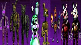 Five Nights at Freddy's 3: The Sequel All Animatronics [EXTRA]