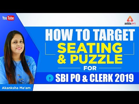 How To Target Seating And Puzzle For SBI PO/CLERK | Akanksha Ma'am | 12 PM