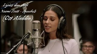 Lyrics Naomi Scott - Speechless (OST Aladdin) dan Terjemahannya