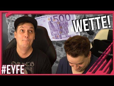 NICHT LACHEN! Die 500 Euro-Wette!!!