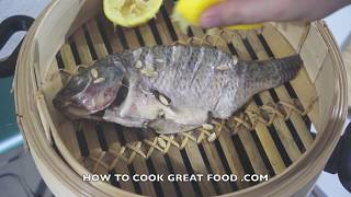 Simple Steamed Lemon Fish Recipe - Tilapia Healthy
