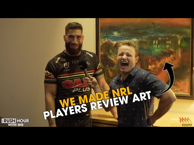 We Made NRL Players Review Art At The 2020 NRL Season Launch | Triple M