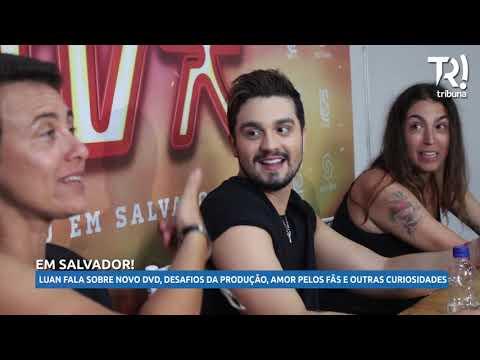 Luan Santana fala sobre o novo projeto VIVA DVD gravado em Salvador