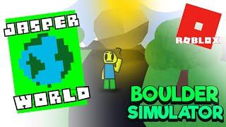 LOOK... I'M A BOULDER !!! Boulder Simulator ROBLOX