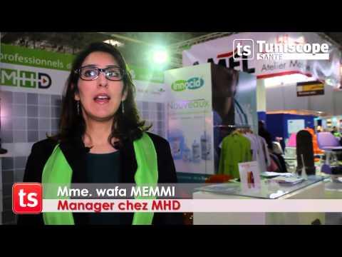 Mme. Wafa MEMMI - Manager chez MHD au Tunisia health expo 2014