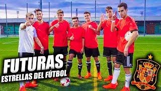 JUGANDO con FUTURAS ESTRELLAS del FÚTBOL ft. SELECCIÓN ESPAÑOLA