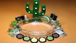 """Special Series #04 Mixing """"GREEN"""" Makeup,Parts,glitter... Into Slime! How about GREEN?"""