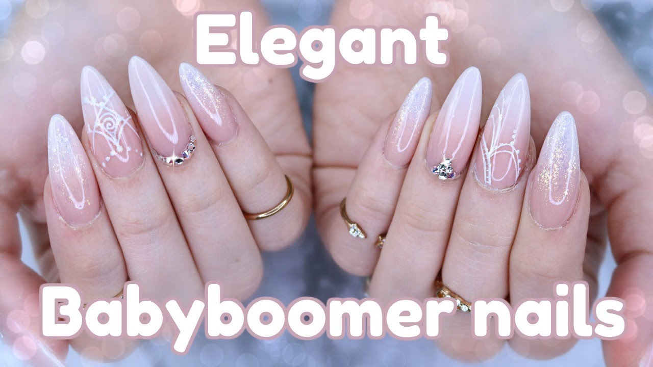 How To Elegant Baby Boomer Nails Wedding