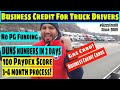 Business Credit for Truck Drivers, get anything in your business name #gizzycredit