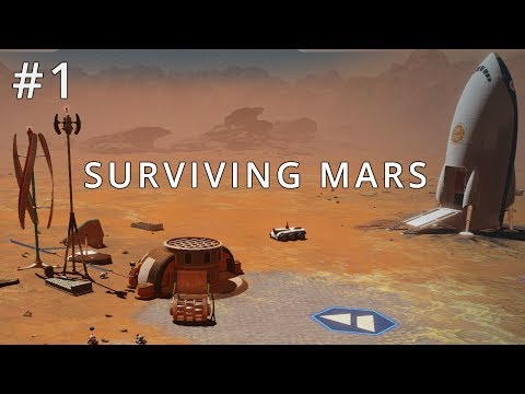Metropolis On Mars - Surviving Mars EP1: Rocket Landing & Exploration