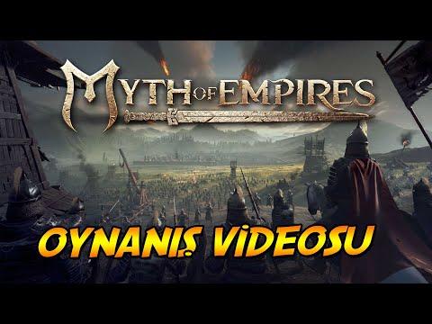 Myth of Empires | Oynanış Videosu | İlk bakış | Türkçe | Bannerlord , Ark , Conan Birleşimi Oyun