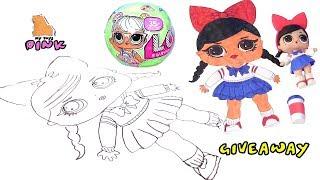 КАК НАРИСОВАТЬ КУКЛУ ЛОЛ С ПИНК How to Draw Coloring Pages Book for Kids