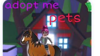 Mostrando meu pet no( adopt me Roblox)