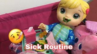 BABY ALIVE Mix my medicine Sick Routine! ( FAN MAIL)