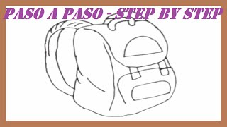 Como dibujar una Mochila paso a paso l How to draw a Backpack step by step