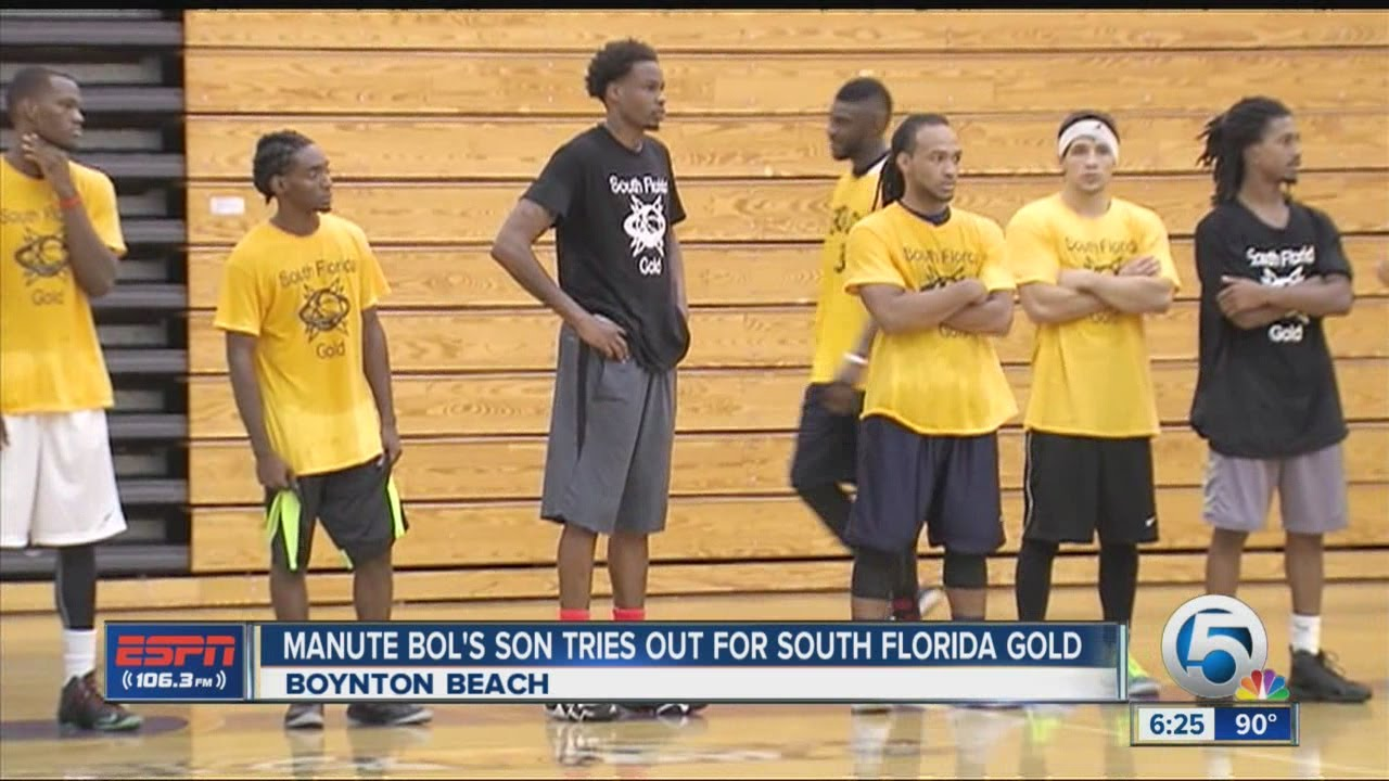 Manute Bol s son tries out for ABA team