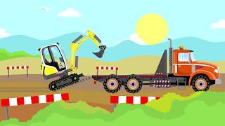 #Excavators and #Trucks and #Bulldozer | Street Vehicles_Videos for kids | Bajki Koparki i Wywrotki