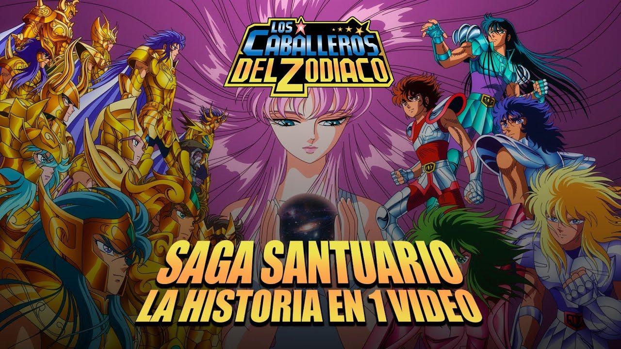 Caballeros del Zodiaco Saga Santuario I La Historia en 1 Video