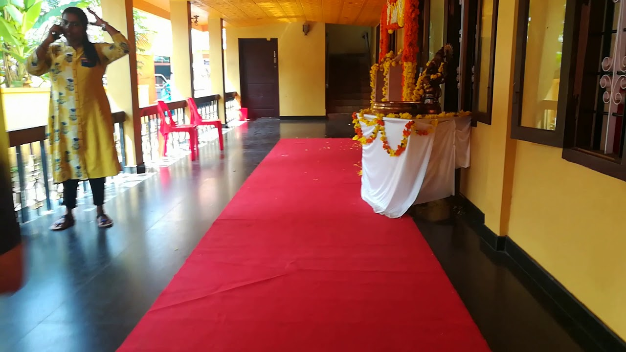Real Traditional Kerala Hindu Stage Decoration Full Video