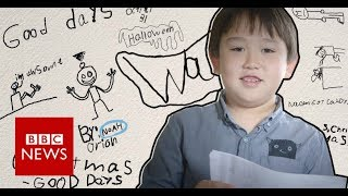 A boy's creative response to his mother's illness - BBC News