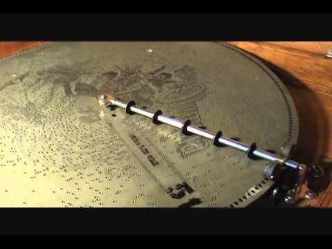 "1899 Olympia 20 1/2 inch Antique Disc Music Box Playing ""ZENDA WALTZES"""