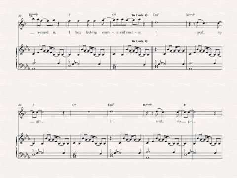 Soprano Sax - I Need My Girl - The National - Sheet Music, Chords ...