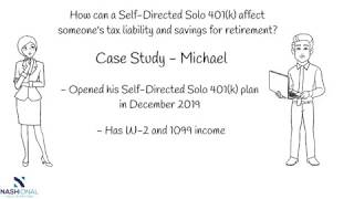 Example of how a Self-Directed Solo 401(k) can save on taxes through tax-deferral.