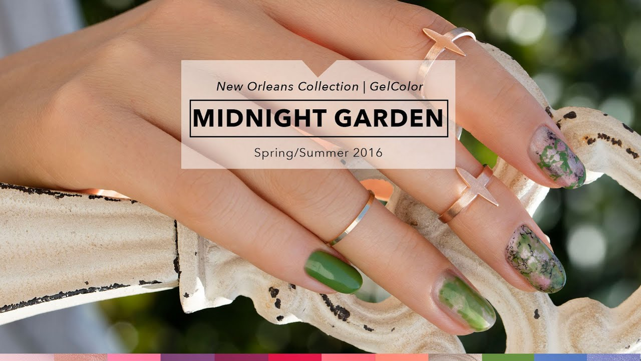 OPI GelColor Tutorial   New Orleans Collection   Midnight Garden ...