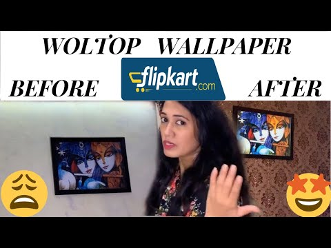 Unboxing of woltop wallpaper from flipkart in hindi