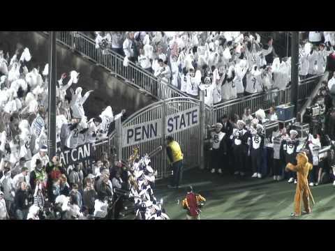 Penn State vs. Michigan Running Through the Tunnel