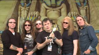 Iron Maiden win British Live Act presented by Nick Frost   BRIT Awards 2009