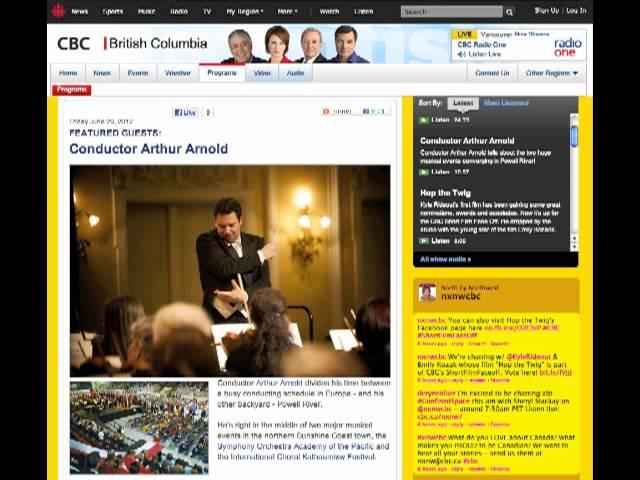 Interview CBC Radio Canada