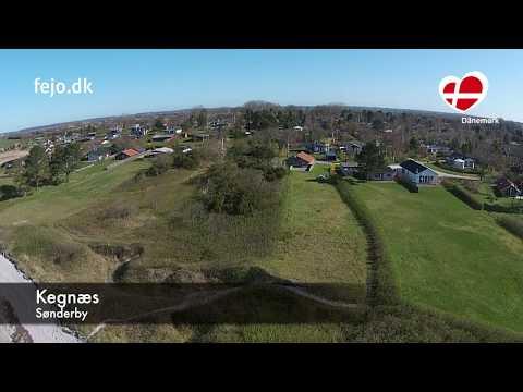 Kegnæs von oben: Ferienhäuser zwischen Als und Flensburger Förde