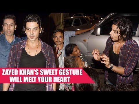 Zayed Khan's Sweet Gesture Towards  SLUM KIDS  Will Melt Your Heart