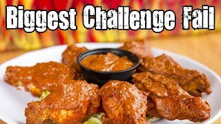 Biggest Challenge Fail (Wing Dome 7 Alarm Hot Wings Challenge)