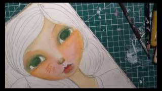 "TWO GIRLS WITH ""KEBAYA"" - MIXED MEDIA PAINTING (TIME LAPSE)"