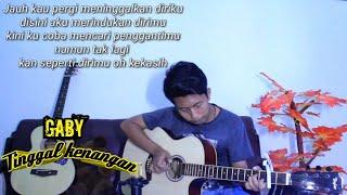 Gambar cover (Gaby) - Tinggal kenangan - Yuda Fingerstyle   Guitar Cover  