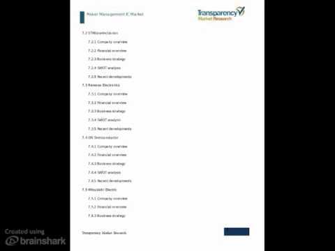 Power Management IC Market Analysis 2013 - 2019
