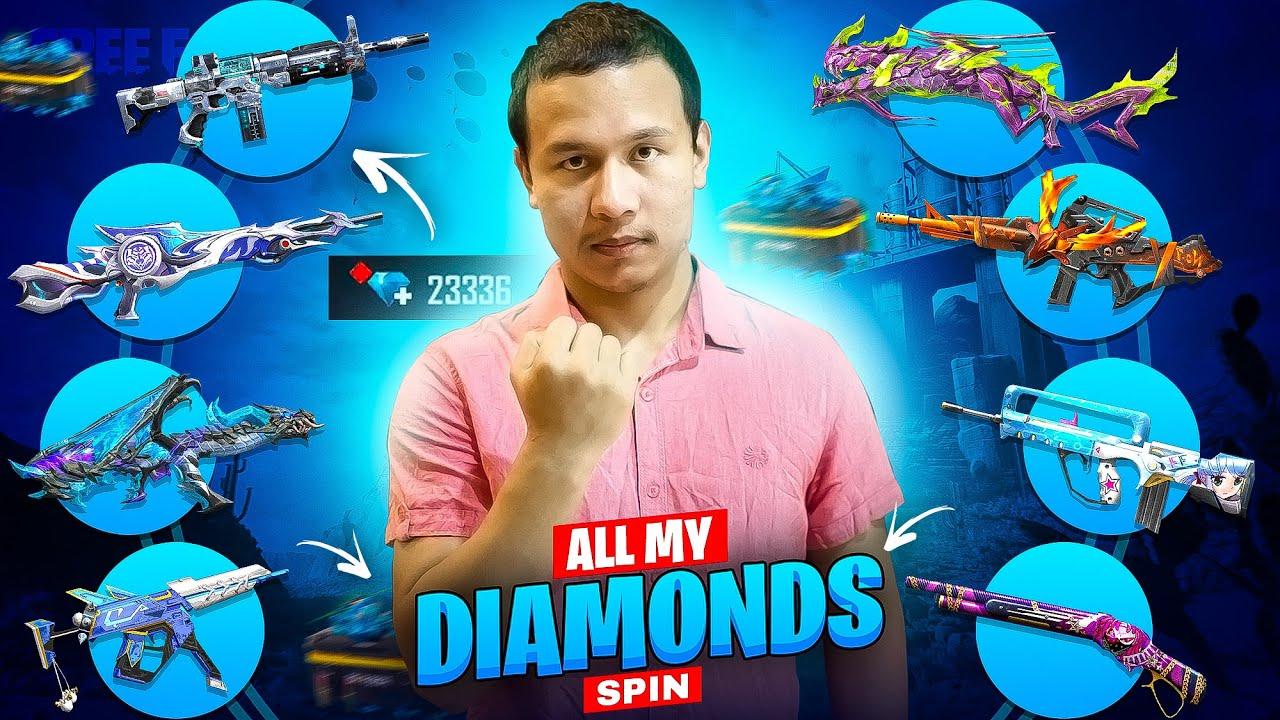 I spent all my Diamonds for Rare Gun Skins to Defeat Sooneeta, Lokesh Gamer, Ayush Bhai & Amitbhai
