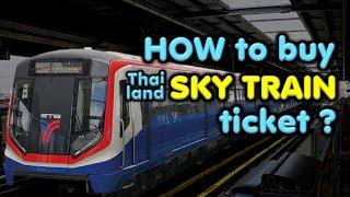 How to buy BTS ticket? Sky train vending machine. Buy sky train ticket or Buy BTS ticket.