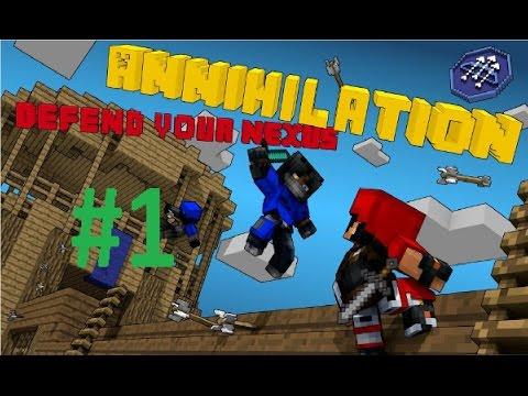 Minecraft | Cristalix | MiniGames | Annihilation #1(СМОТРЕТЬ ВСЕМ ILEACOOOL НАГИБАЕТ!)